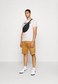 Hollister Co. - EX CORE TECH LOGO MULTI - T-shirt med print - grey/mint/cobalt - 0