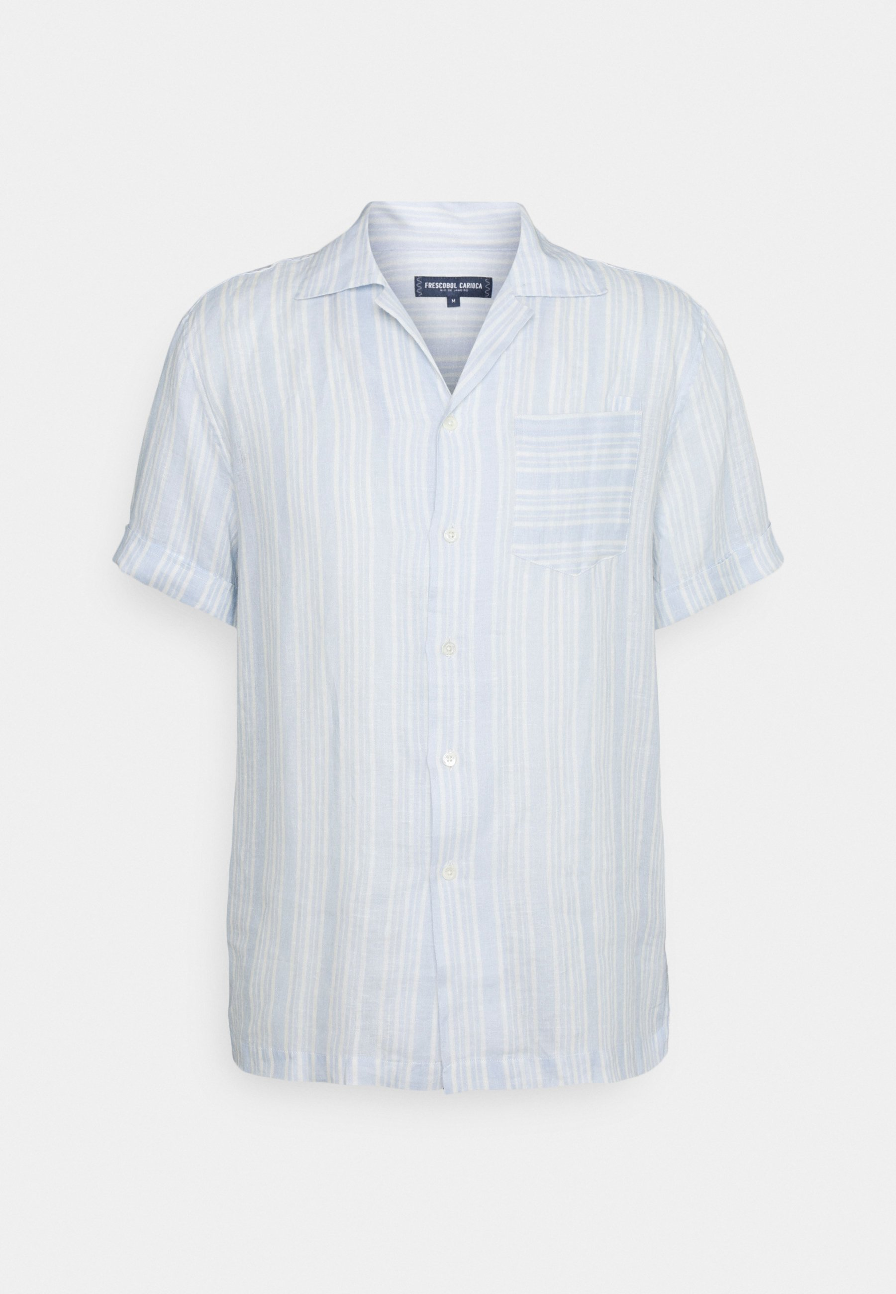 Homme PRINTED STRIPE CAMP COLLAR - Chemise