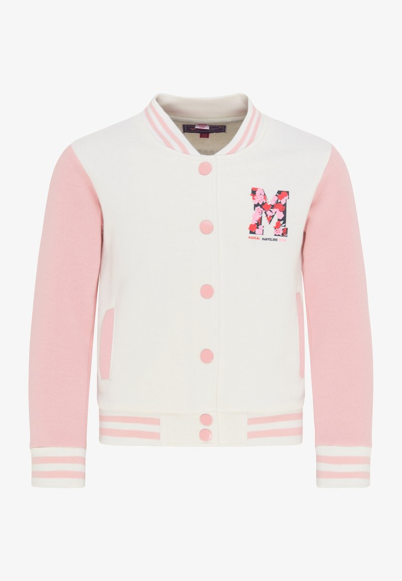 myMo KIDS - Cardigan - wollweiss rosa