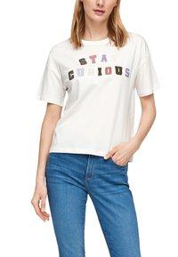 s.Oliver - T-shirt imprimé - offwhite statement print - 4