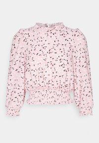 Miss Selfridge - FOCHETTE RUFFLE NECK - Print T-shirt - pink - 3