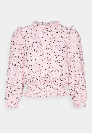 FOCHETTE RUFFLE NECK - Print T-shirt - pink