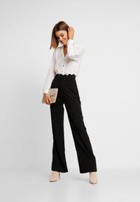Fashion Union - TORA TROUSER - Kalhoty - black - 1