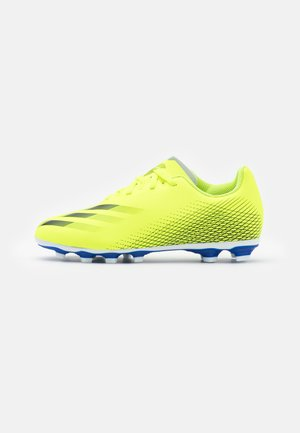 X GHOSTED.4 FXG UNISEX - Moulded stud football boots - solar yellow/core black/royal blue