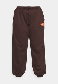 PRINTED JOGGER - Tracksuit bottoms - brown