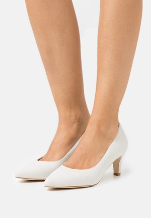 LEATHER COMFORT - Klassiske pumps - white