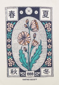 Kaotiko - WASHED JAPANES FLOWER IVORY - Print T-shirt - ivory - 2