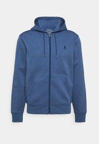DOUBL FULL ZIP HOODIE - Zip-up sweatshirt - derby blue heather