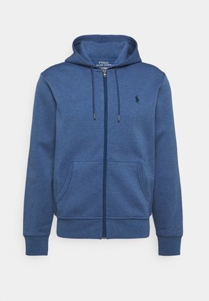 DOUBLE TECH - veste en sweat zippée - derby blue heather