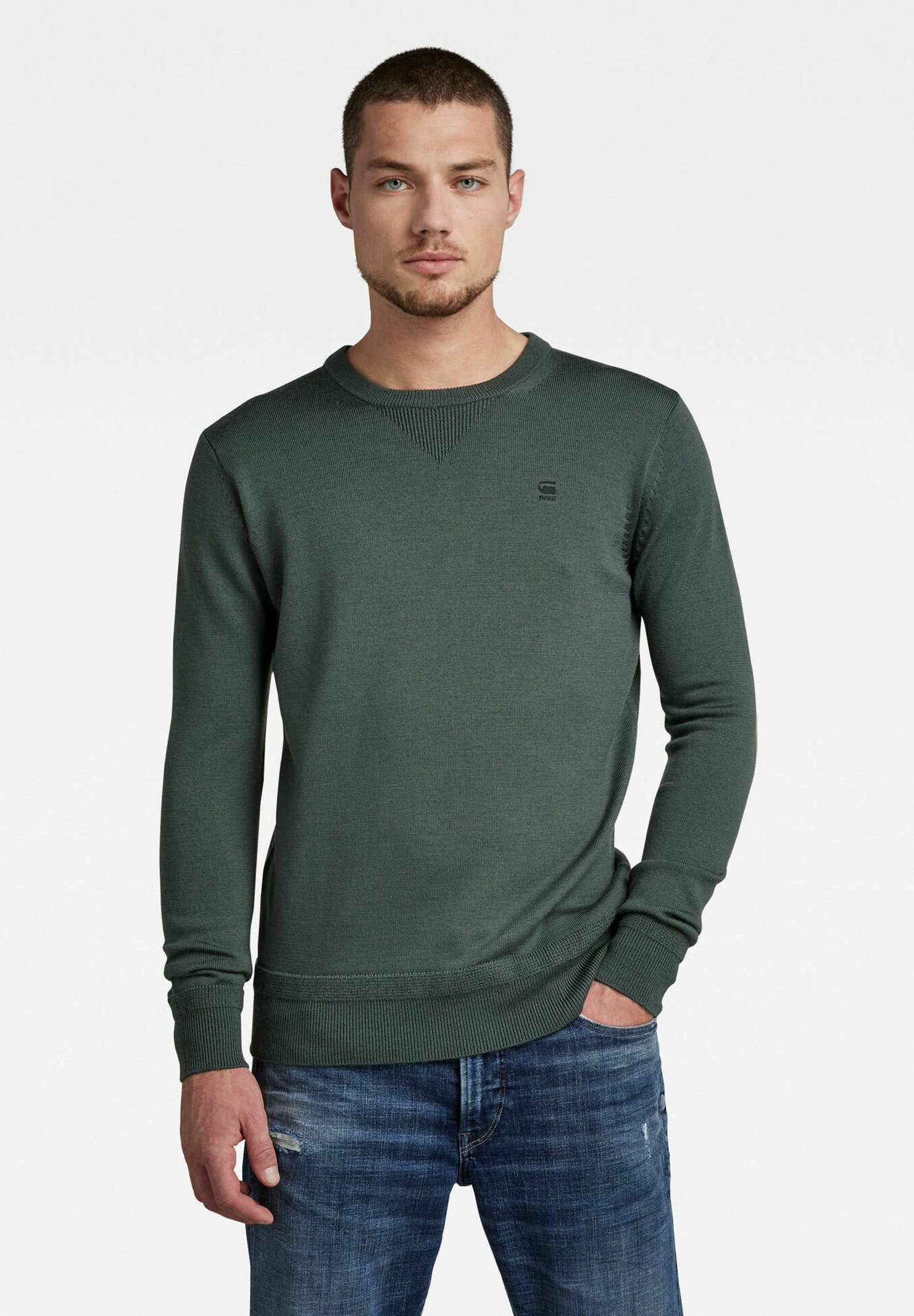 Homme PREMIUM BASIC KNITTED - Pullover