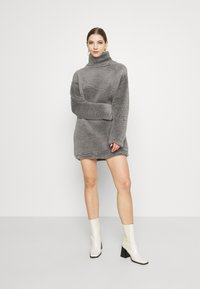 Nly by Nelly - TURTLENECK DRESS - Day dress - steel grey - 1