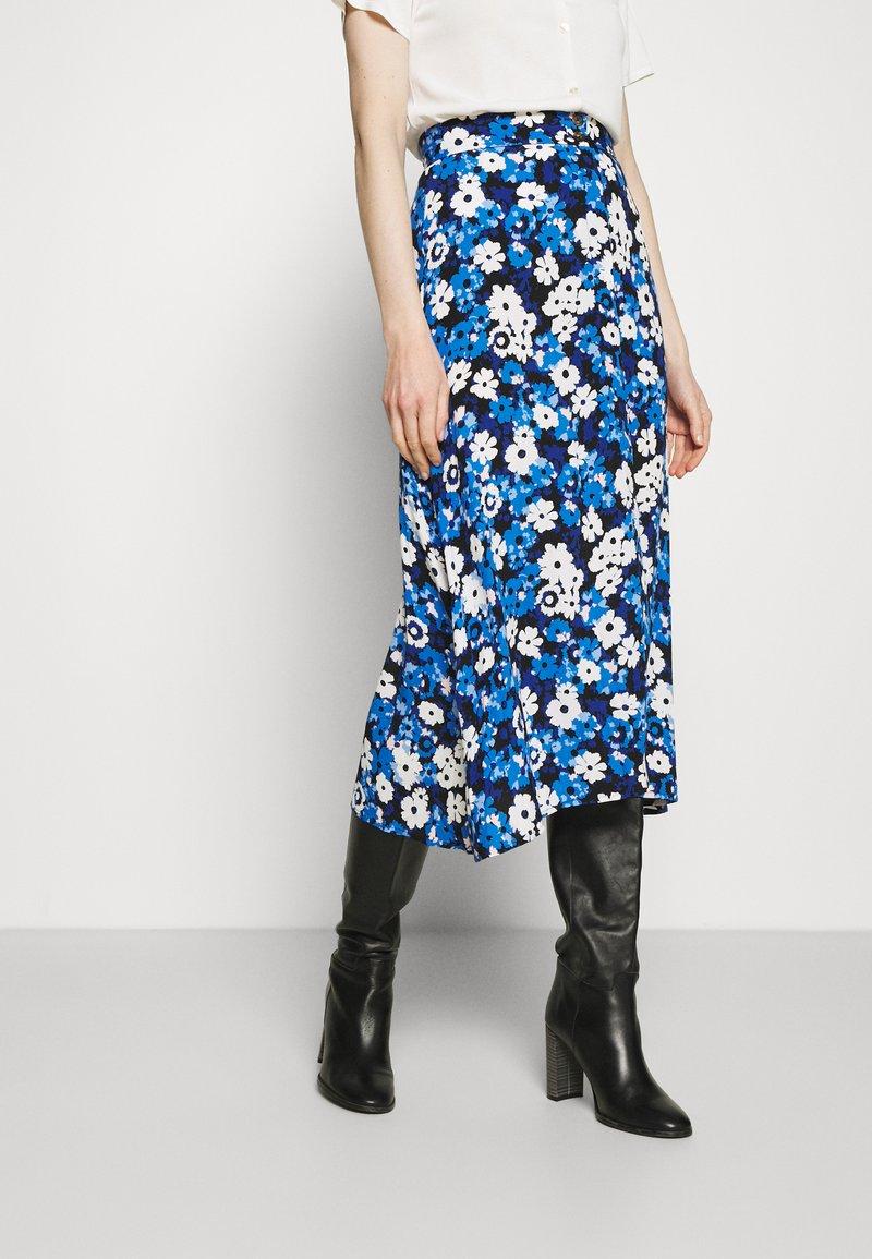 Marks & Spencer London - SKIRT - Áčková sukně - blue