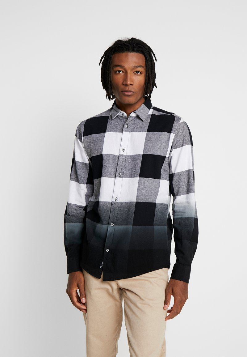 Only & Sons - ONSFREDDY LS DIP DYE CHECKED  - Košile - black