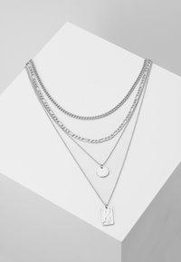 Pieces - PCOKIA COMBI NECKLACE - Necklace - silver-coloured - 0