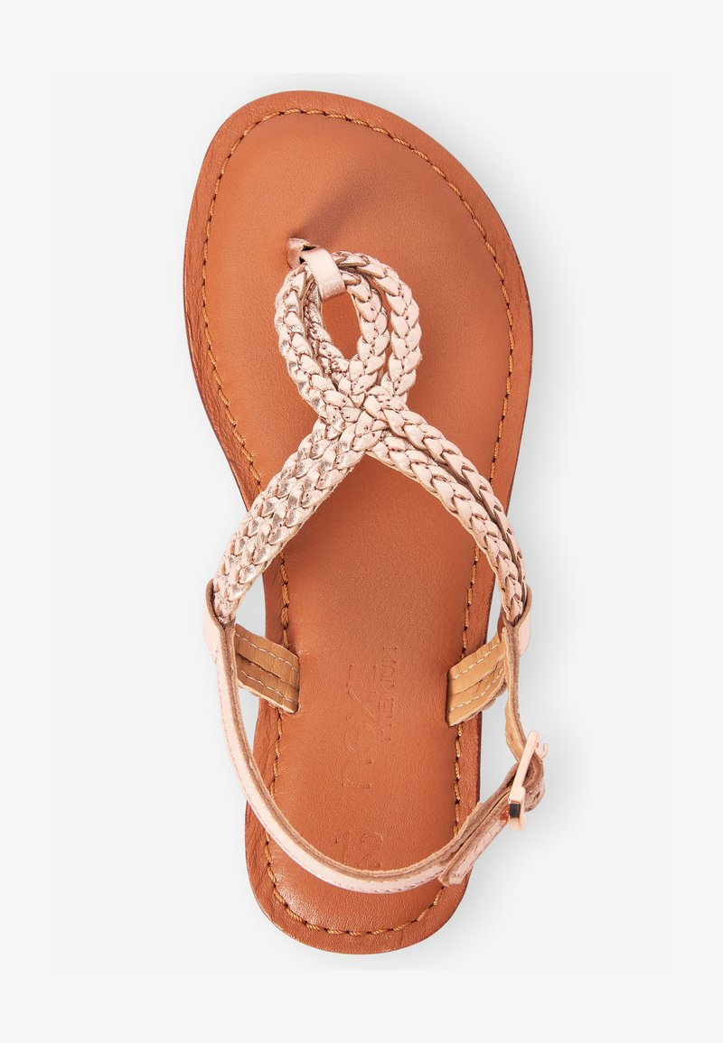 Next - TOE ROPE - T-bar sandals - rose gold-coloured
