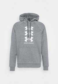 Under Armour - RIVAL MULTILOGO - Jersey con capucha - pitch gray light heather - 4