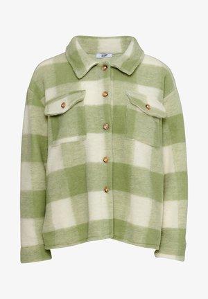 Winter jacket - green/off white