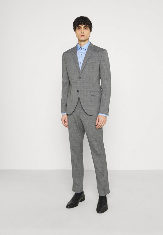 CHECK SUIT - Traje - grey