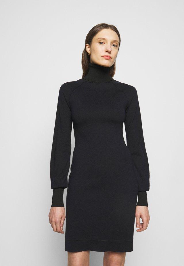 WOOLSHINE EVENING MINI JUMPER DRESS - Robe pull - navy/black