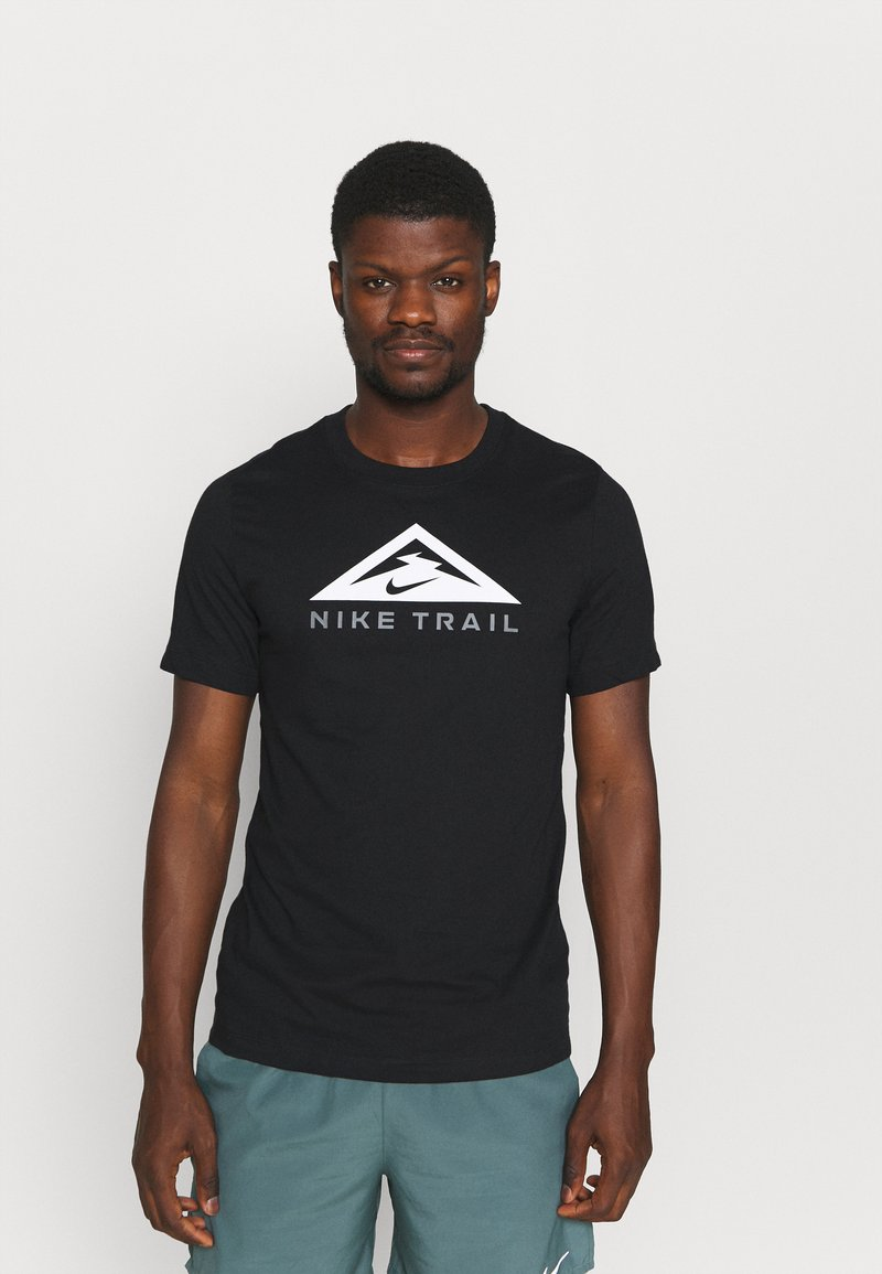 Nike Performance - TEE TRAIL - T-shirt print - black