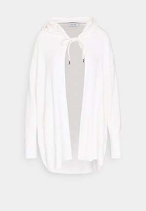 HOODED - Cardigan - ecru heather