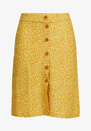 A-line skirt - mustard yellow
