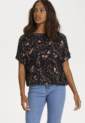 KAJULIA  - Blouse - black - brown flower print