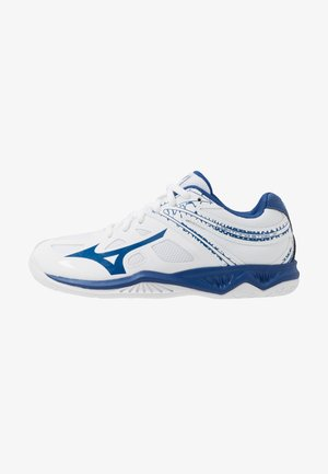 LIGHTNING STAR JR - Volleyball shoes - white/true blue