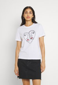 ONLY - ONLKITA LIFE  - Print T-shirt - bright white - 0