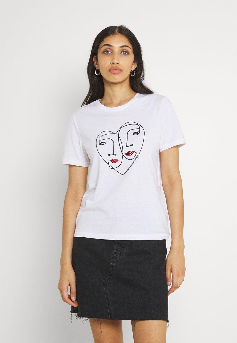 ONLY - ONLKITA LIFE  - Print T-shirt - bright white