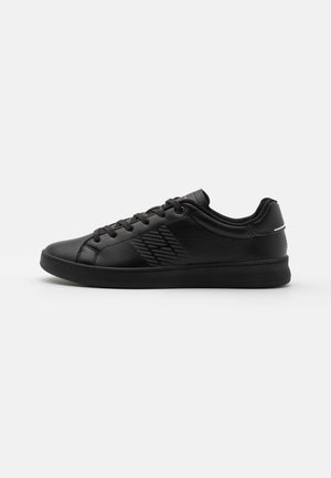 RETRO TENNIS CUPSOLE - Sneakers laag - black