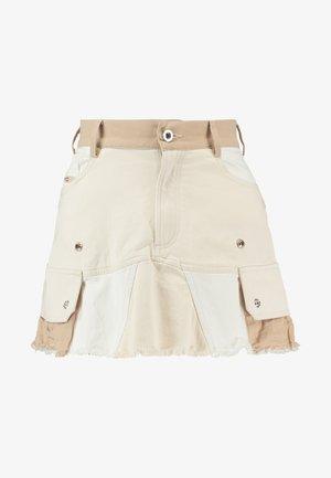 O-AMATA-A SKIRT - A-line skirt - beige/white