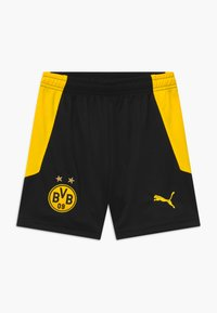 Puma - BVB BORUSSIA DORTMUND REPLICA - Sports shorts - black/cyber yellow - 0