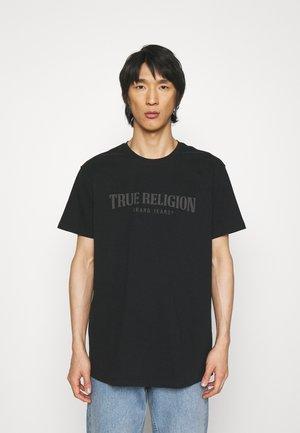 CREWNECK TRUE LOGO - T-shirt print - black