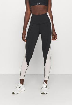 TRAINING WORKOUT LUX COLORBLOCK SPEEDWICK HIGH WAISTED - Legging - black/stucco