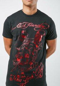 Ed Hardy - DEATH-GLORY T-SHIRT - Print T-shirt - black - 1