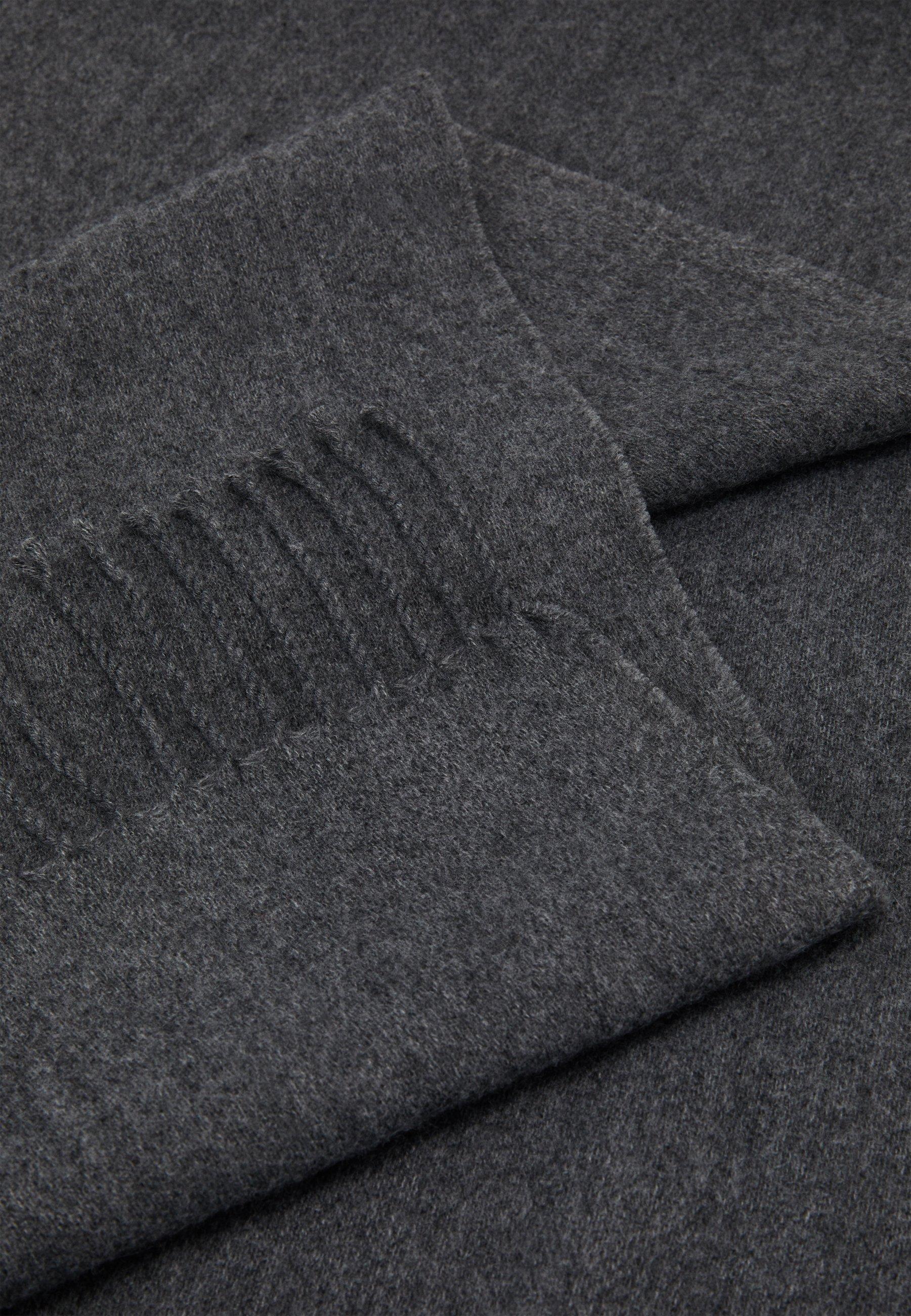Lindex ULLIS SCARF - Sjal - dark grey melange/grå ZxyW3H7B2WdRESp