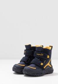 Superfit - GLACIER - Winter boots - blau/gelb - 3