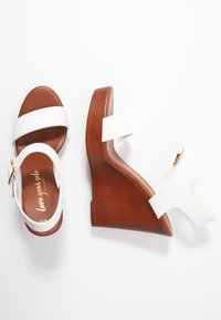 New Look - PERKIN - Højhælede sandaletter / Højhælede sandaler - white - 3