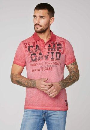 Polo shirt - powder red