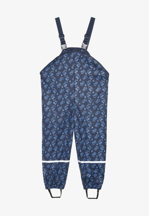 BAUSTELLE ALLOVER - Rain trousers - marine