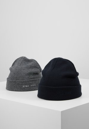 2PACK - Beanie - dark blue/light grey