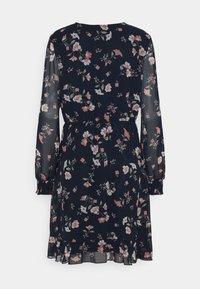 Vero Moda - VMZALLIE WRAP DRESS - Day dress - navy blazer/zallie - 6