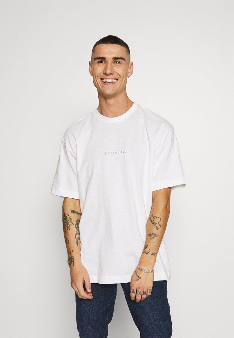 Topman - OPTIMISM TEE - T-shirt imprimé - white