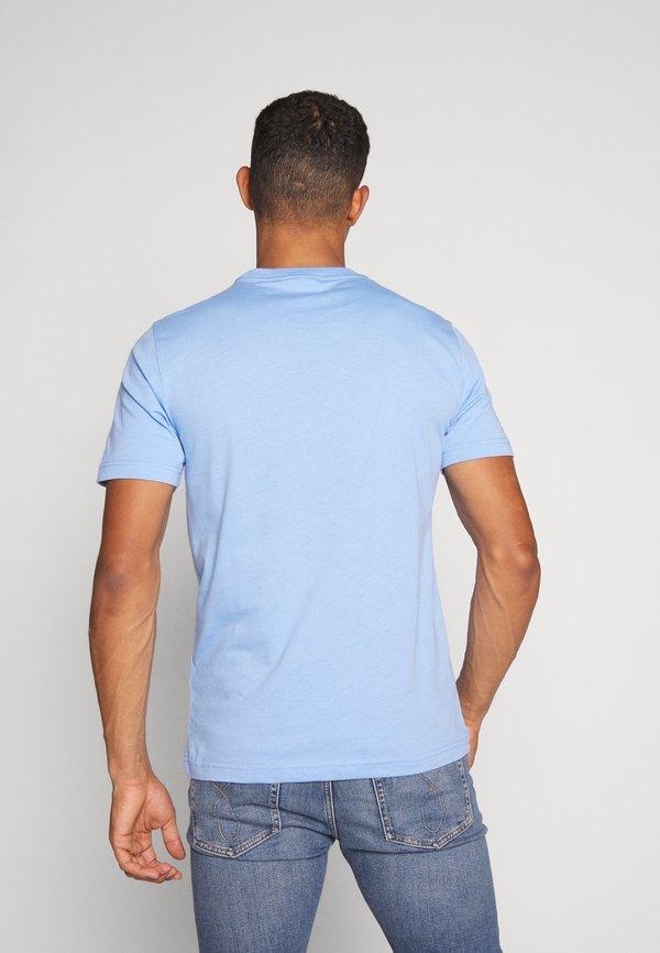 Calvin Klein FRONT LOGO - T-shirt z nadrukiem - blue/jasnoniebieski Odzież Męska JPOH