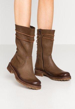 CASTER - Lace-up boots - morat/belga cobre