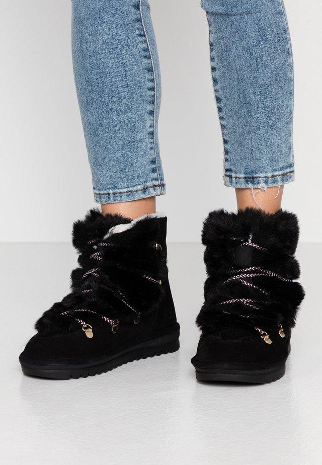 LAURENCE - Šněrovací kotníkové boty - noir