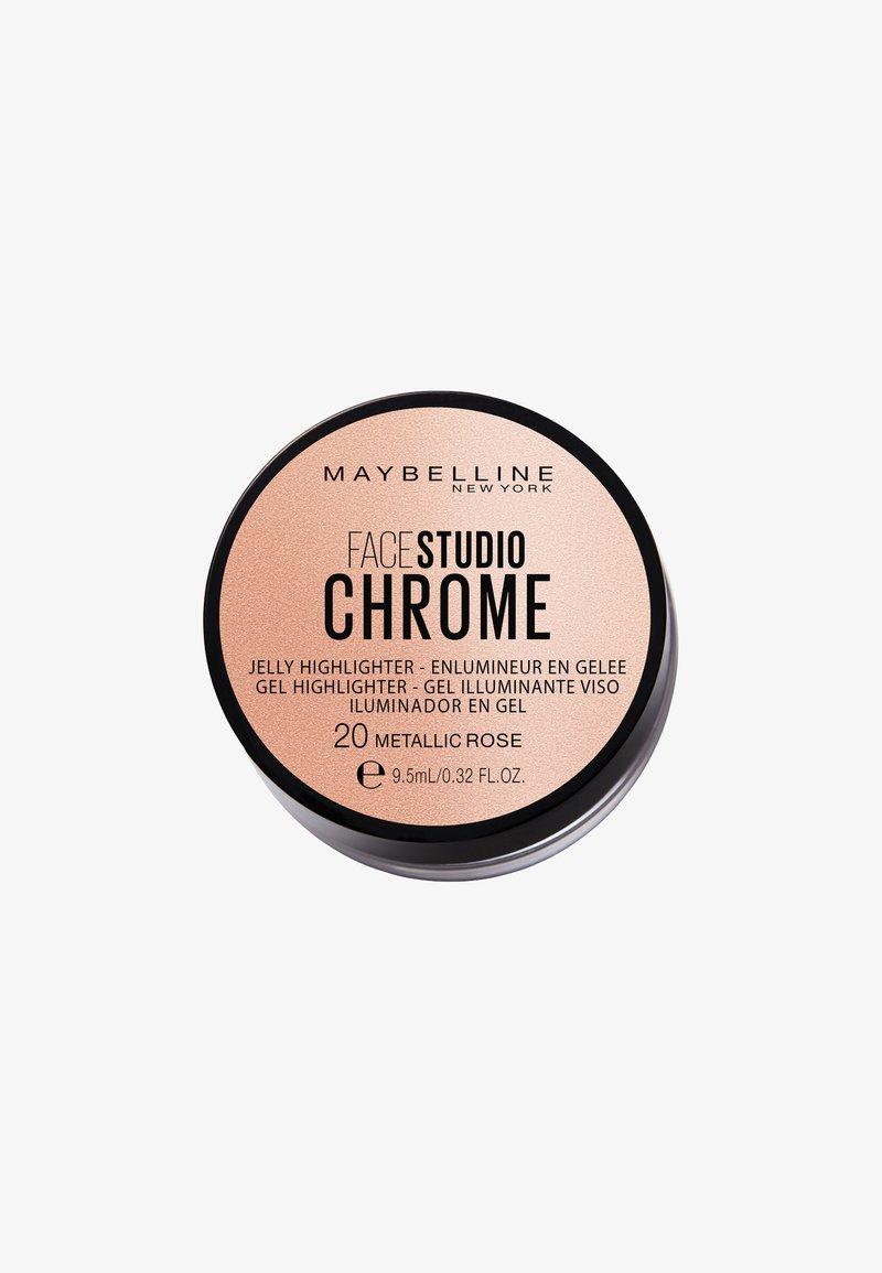 Maybelline New York - FACE STUDIO CHROME JELLY  - Highlighter - 20 rose