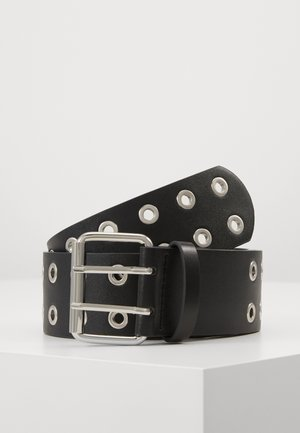 PCMILA WAIST BELT - Ceinture - black/silver-coloured