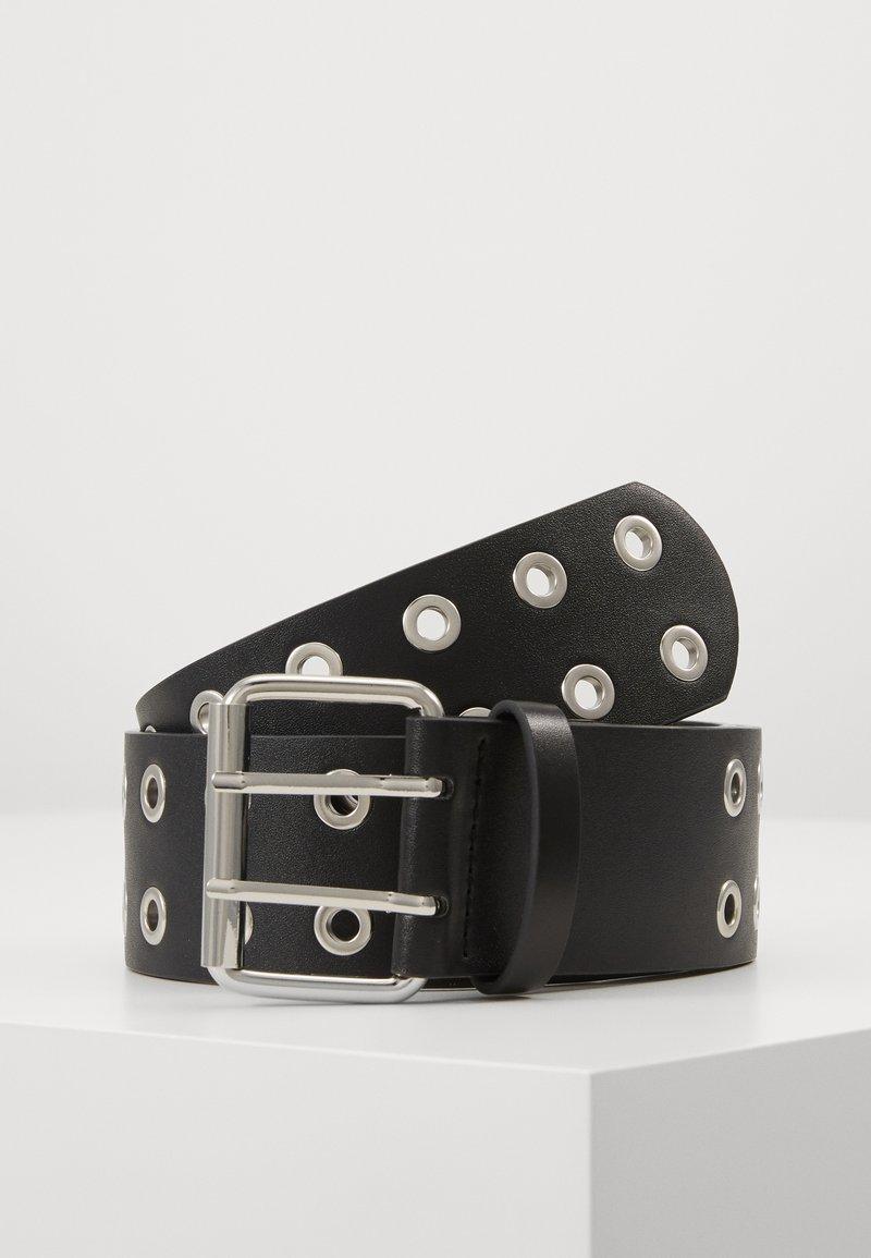 Pieces - PCMILA WAIST BELT - Pásek - black/silver-coloured